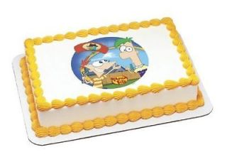 Phineas & Ferb Agent P Arrives~ Edible Image Icing Cake, CupcakeTopper