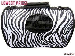 Lowest price Zebra stripe Pet Dog Cat Carrier Tote Travel Airline Bag