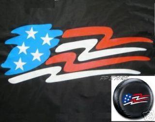 SPARE TIRE COVER 9   12 rim with American Flag only fits Trailer