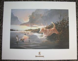 Knife Duck Print   LIMITED EDITION, art hunt picture call boat decoy