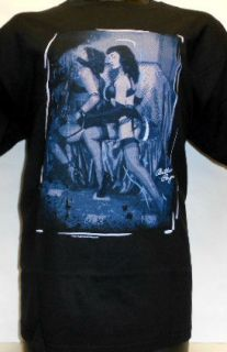 Bettie Page Notor Blue Mens Blacks T Shirt