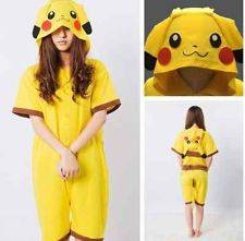 Cosplay Romper Japan Anime Pikachu Pokemon Kigurumi Pajamas Hoodie