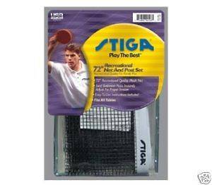 Stiga 72 Recreational Ping Pong Net & Post Set