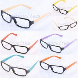 Costume Girls Boys Nerd Geek Eyeglasses Eyewear Glasses Frames No Lens