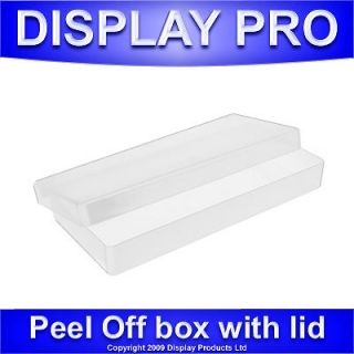 OFF CLEAR PLASTIC STORAGE BOX PAPER STICKERS CRAFT CONTAINER BOXES