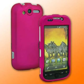 HOT Pink Hard Rubber Case Cover for T Mobile MyTouch 4G
