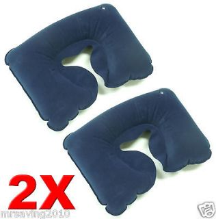 LOT OF 2 NEW COMFORTABLE INFLATABLE TRAVEL PILLOW NECK REST U SHAPE