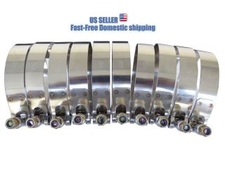 Stainless Steel T BOLT CLAMPS for Turbo Piping Hoses TBolt Pipe