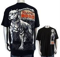 Pit Bull Dog &CHAINS t shirts for men. New , Black color. Detailed HD