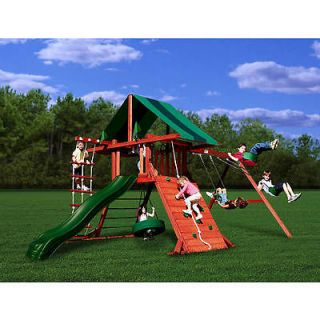 wooden swing set in Swings, Slides & Gyms