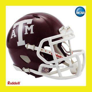 TEXAS A&M AGGIES OFFICIAL NCAA MINI SPEED FOOTBALL HELMET by RIDDELL