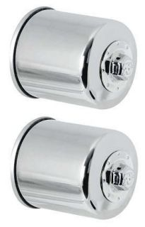 Chrome Oil Filters (Pack of 2) 2012 Polaris Ranger 500 Crew Turbo
