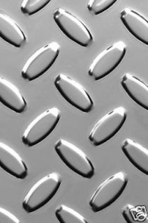 BRITE ALUMINUM DIAMOND PLATE SHEET 48 X 48 X .025 RTP