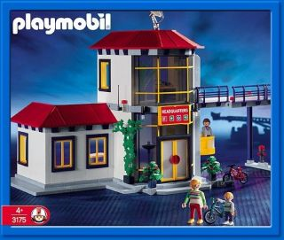 Playmobil 3175 Fire Station Headquarters Retired Sealed Box RARE