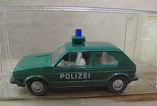 XXGU25 WIKING * DIE CAST PLASTIC POLICE VW GOLF MODEL TOY CAR GERMAN