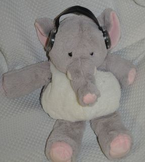 at Play IFlops Share the Tunes Grey Elephant Mp3 Speakers Soft Plush