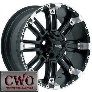 17 Black Incubus Crusher Wheels Rims 5x127 5 Lug Chevy GMC C1500 Jeep
