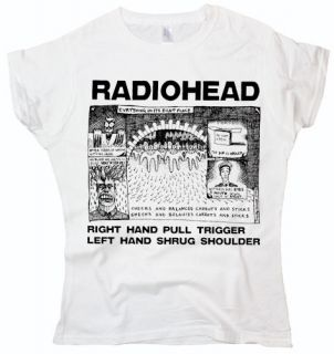 New Radiohead Shrug music rock indie Brit pop ladies woman white t