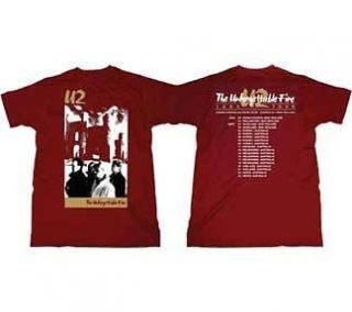 U2 Fire T Shirt U2CD20771 Sizes Small to XXL Double Extra Large