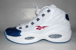 J82534 REEBOK QUESTION MID ALLEN IVERSON RETRO WHITE/PEARL NAVY RED US