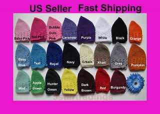 Crochet Beanie Kufi Hat Cap Newborn/Infant/Toddler/Big Girl Kids NEW
