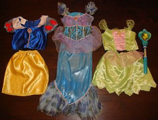 Disney Princess Dress Up Costmes Snow White, Ariel Tinkerbell 4 6X