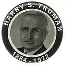 HARRY TRUMAN PRESIDENT MEMORIAL POLITICAL PIN