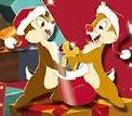 Chip & Dale Christmas 2011 Pin DLP Paris Disney DLRP Disneyland Santa