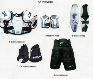 large ice hockey gear complete equipment set protective kit package