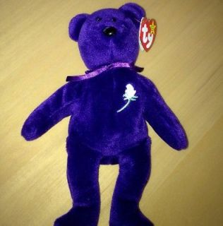 PRINCESS DIANA BEANIE BABY TY RARE P.E. No Space Tag No Number