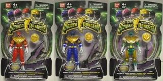 MIGHTY MORPHIN POWER RANGERS RED BLUE & GREEN RANGER Power up Coins