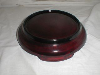 Anchor Hocking Royal Ruby Punch Bowl Base