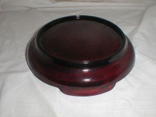 Anchor Hocking Royal Ruby Punch Bowl Base
