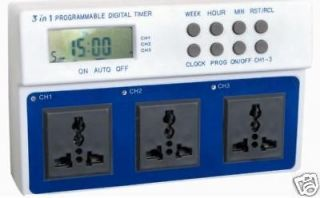 Newly listed Aquarium Digital PROGRAMMABLE TIMER Wave Maker/Light