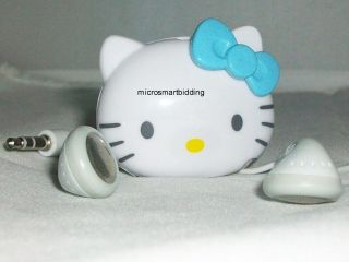 HELLO KITTY WHITE mini face w/ BLUE BOW  player new without package