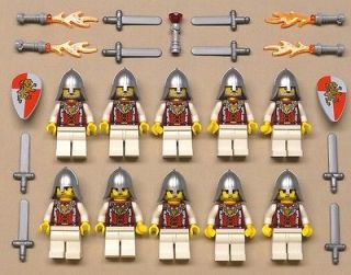 Lego Castle Minifigs Knights Guys Men LION KINGDOM KNIGHT QUARTERS Red