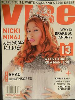Vibe Magazine March 2012   Nicki Minaj   13 Ways to dress like a man