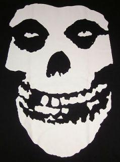 MISFITS Skull Logo T shirt Punk Rock Fiend Tee SzLg New