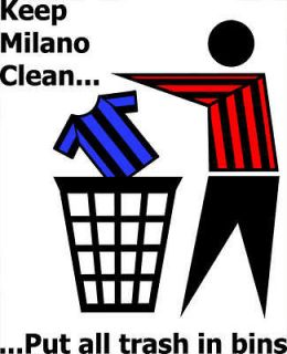 KEEP MILANO CLEAN funny football ac milan t shirt