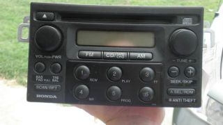 98 99 2000 01 02 Honda Accord Radio CD Player DX LX coupe Sedan Civic