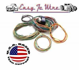 STREET ROD WIRING HARNESS 22 CIRCUIT kit fuse panel coil heater wiper