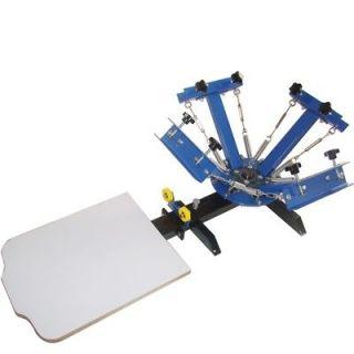 Colors 2 Stations Silk Screen Printing Machine Equipment Printer DIY