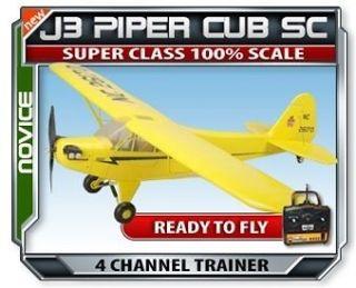J3 Piper Cub Super Class RC Trainer Airplane 4ch 2.4GHZ radio system