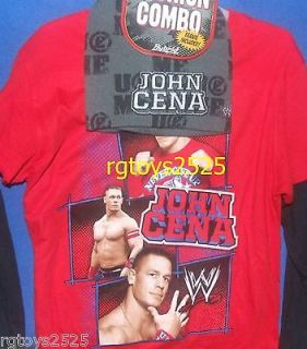 WWE John Cena Long Sleeve T Shirt Size 10 12 Large L Childs New w