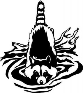 Racoon Large Vinyl Decal Car Truck Window Sticker