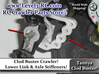 LINK AXLE MOUNTS ** TAMIYA CLOD BUSTER ** RC ROCK CRAWLER TRUCK PARTS