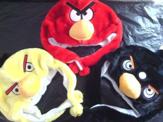 Angry Birds Plush Winter Hat With Earcover RED,B​LACK OR YELLOW