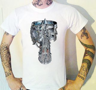 Cool Aerospace Jet Engine T Shirt New Space Horse Power