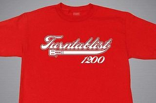 TURNTABLIST DJ T SHIRT VARIOUS COLORS SIZES M 2XL TECHNICS 1200