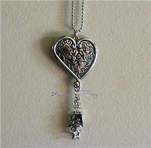 Heart Rose Car Charms Chimes Jewelry Rearview Mirror